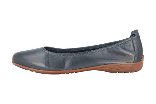 Josef Seibel Mujer Bailarinas Fenja 01, señora Bailarinas clásicas,Zapatos Planos,Calzado de Verano,Slip-on,Calzado Casual,Azul(Ocean),36 EU / 3 UK