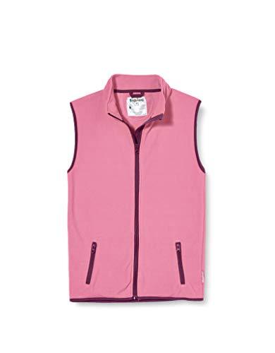 Playshoes Kinder Fleeceweste farbig abgesetzt Weste, Rosa (pink 18), 116