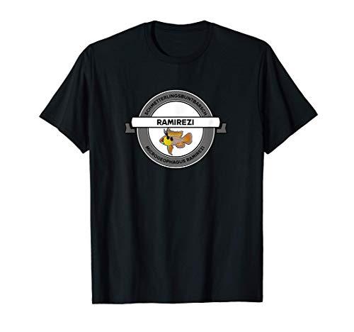 Aquaristik Ramirezi Schmetterlingsbuntbarsch Aquarium Fische T-Shirt