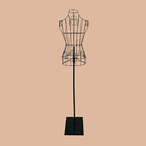 WXJLYZRCXK Soporte de Ropa, Abrigo de Vestidor Forma Piso-Pie Perdón de Hierro Forjado Rack con Altura Ajustable, Forma de Vestido de Estilo para Tienda de Ropa,Negro