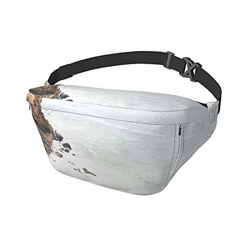 Bolsa deportiva para el pecho, bandolera, mochila de hombro Malibu California Beach Fashion Fashion Waist Daypack para viajes, gimnasio, deporte, senderismo, ciclismo para hombres y mujeres