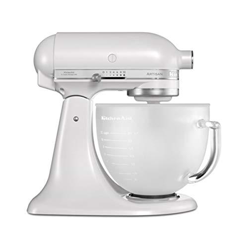 KitchenAid 5KSM156EFP 5KSM156 Küchenmaschine, Edelstahl, 5 liters, Weiß