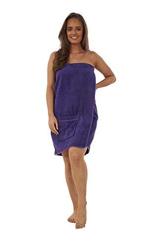Toalla para mujer, 100% algodón, muy absorbente, suave, para ducha, spa, sauna, playa, gimnasio, toalla de abrigo (ciruela, M/L)