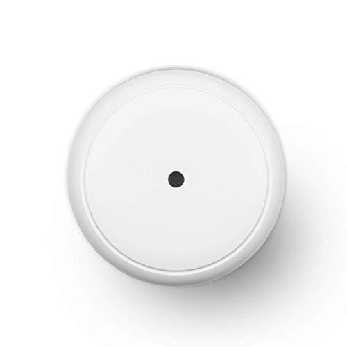 Diffusore di aromi Turbionaire Puck, 7 luci LED intercambiabili, 5 W, Silenzioso, Portatile, Possibilità di alimentazione con USB, Arresto automatico (Snow)