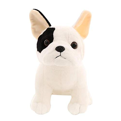 Niedliche Sitzende Bulldoggenpuppe, Plüsch Gefüllte Umarmungskissenspielzeug, Maskottchen-Schattenhund, Kindergeschenk 22Cm Hund