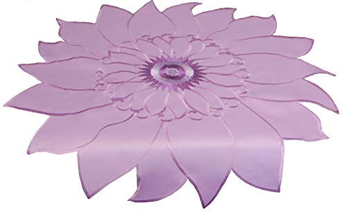 "EcoSol Designs Sunflower Table Topper Centerpiece (33"" x 33"", Lavender)"