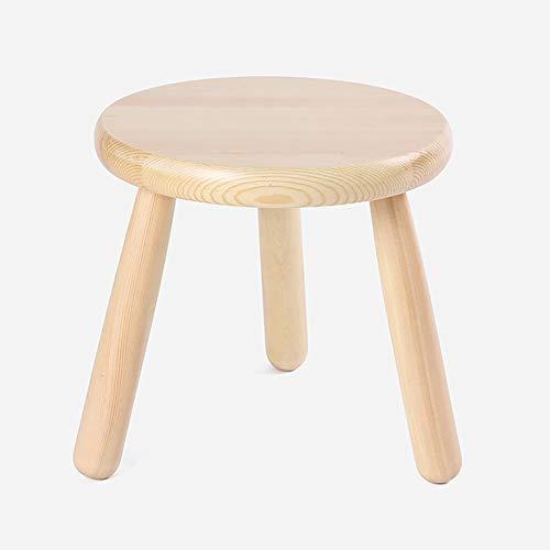 ZDZY ZDZY Stühle Massivholz Kreativer Fußhocker/Wohnzimmer Dreibeiniger Hocker/Durchgangswechsel Schuhe Hocker 25 * 25 cm Hocker