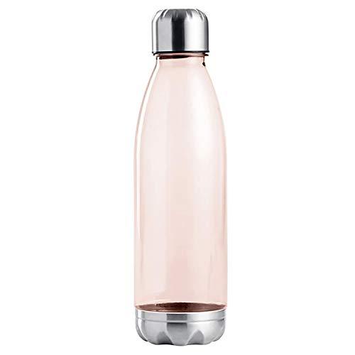 Botella para beber Ø7x25cm 675ml, botella PET con tapón de rosca, botella de agua, botella deportiva sin BPA, color: rojo