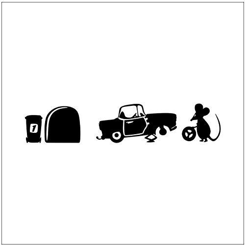 Raam Sticker Cartoon Grappige Muis Auto Trein Muursticker Voor Kinderen Kamer Rat Cartoon Muursticker Kwekerij Muis Poster Muur