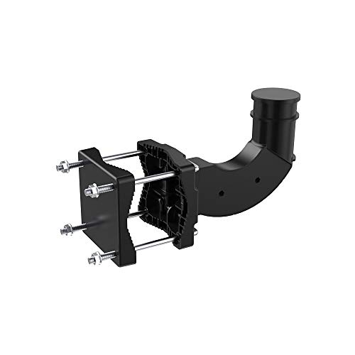 ANTOP ANTENNA Outdoor Indoor HD TV Antenna Wall Mount Bracket 6.5 inch, Universal Attic Antenna Mast Mounting Kit up to 180 Degree Rotated-Easy Installation, Lightweight, Weather Resistant