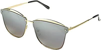 نظارة شمس كبيرة الحجم بشنبر معدن وعدسات رمادي متدرج للنساء من ديسبادا DS1595C1 - ذهبي