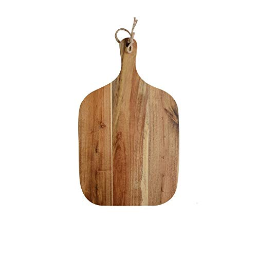 SMX Platz Massivholz Pizza Tablett aus Holz Vintage Nordic West Geschirr Tablett for Pizza/Brot/Gemüse 18 x 35 x 1,5 cm (Akazienholz)