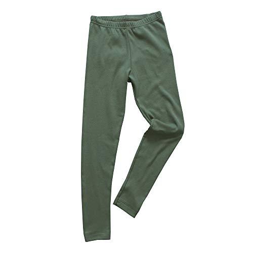 HERMKO HERMKO 2720 Kinder Legging Unisex aus 100% Bio-Baumwolle für Mädchen und Knaben, Farbe:Olive, Größe:152