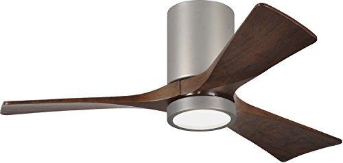 Matthews IR3HLK-BN-WA-42 Irene 42' Outdoor Hugger Ceiling Fan with LED Light and Remote &...
