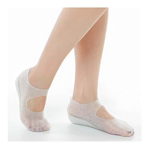 Plantillas Para Zapatos Desodorante Suela 1 par aumento de la altura de la plantilla invisible altura de elevación del talón completa Pad calcetín Liners Aumenta la plantilla for aliviar el dolor de l