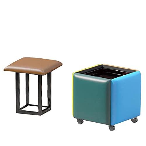 Taburete de cuero para sofá apilable con forma de cubo de almacenamiento, 5 en 1, para asientos, accesorio para el hogar, sofá creativo, varios colores (tamaño: grande)