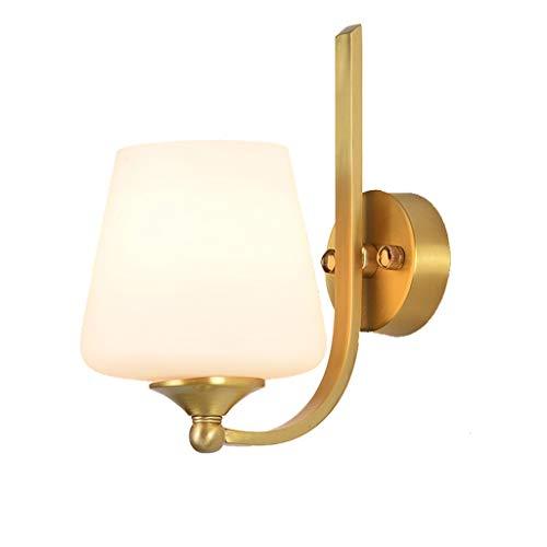 Nachtlampje wandlamp eenvoudige moderne woonkamer gang koper Amerikaanse stijl zuiver koper verlichting Europese slaapkamer nachtkastje spiegel voorlicht