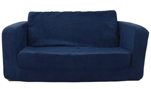 Fun Furnishings Toddler Flip Sofa, Dark Blue