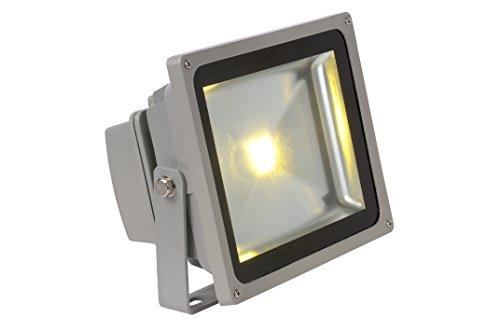 Lucide LED-FLOOD - Projecteur Exterieur Extérieur - LED - 1x30W 4200K - IP54 - Gris