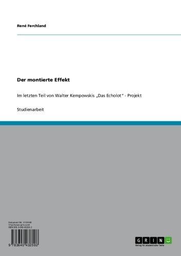 """Der montierte Effekt: Im letzten Teil von Walter Kempowskis """"Das Echolot"""" - Projekt"""