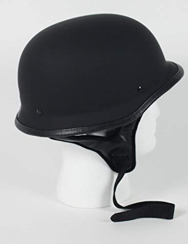 Rodia Matte Flat Black German DOT Motorbike Scooter Motorcycle Helmet XS-3XL (2XL)