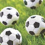 "2er Set Servietten""Go for Goal"" 40 Stück 3-lagig Dekoration Party Fußball"
