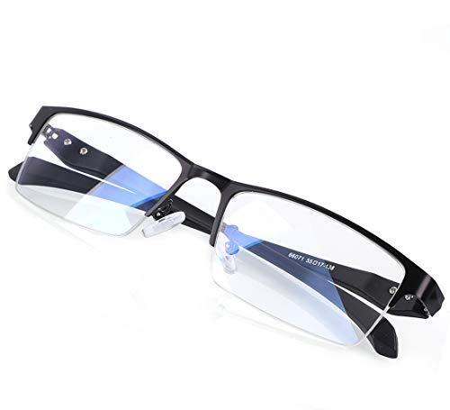 LEEVAN ブルーライトカットメガネ pcメガネ パソコン用眼鏡 軽量 おしゃれ だてめがね メンズ 眼鏡 有害光...