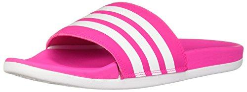 adidas Damen adilette Cloudfoam+ Sandalen zum Reinschlüpfen, Shock Pink/White/Shock Pink, 40 EU
