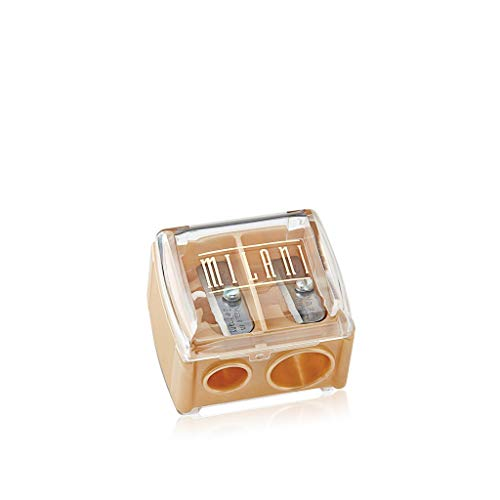 Milani Duo Sharpener (0.1 Ounce) Cruelty-Free Dual Makeup Sharpener with Cover for Small or Jumbo Eye & Lip Pencils