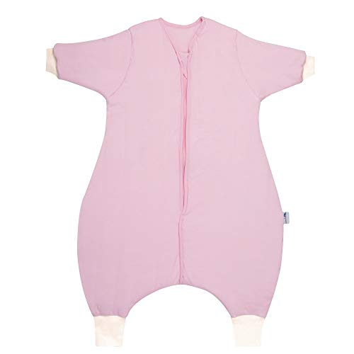 Schlummersack Winter Schlafsack mit Füßen in 3.5 Tog Langarm - Pink - 70 cm mit Druckknöpfen an den Beinen