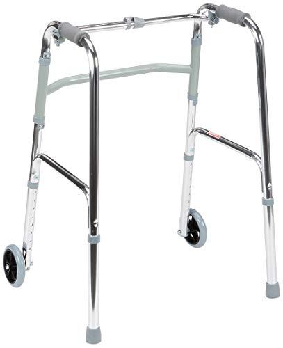 GIMA 27723 Deambulatore per Anziani con 2 Ruote Anteriori, Altezza Regolabile 79-97cm, Molto Leggero e Resistente