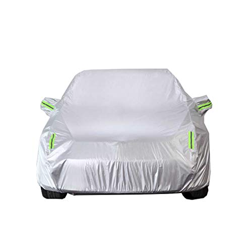 Zfggd Car Cover, Full Automobile Cover, Heavy Duty Fully Waterproof Breathable Cotton Lined All Weather Protection Outdoor Protector Covers Fit GL8 SUV (Size : 2018)