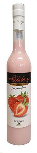 Torboli Erdbeerlikör | Crema Fragola | Italienischer Likör |Cream |Likoer | frische Erdbeeren (0,5l)