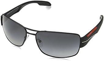 Prada Linea Rossa Sunglasses For Men, Grey PS53NS DG05W165 65 mm