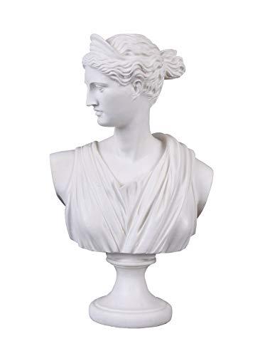 Göttin Diana mythologische Frauenbüste Antikstil Weiss IS247 Palazzo Exklusiv