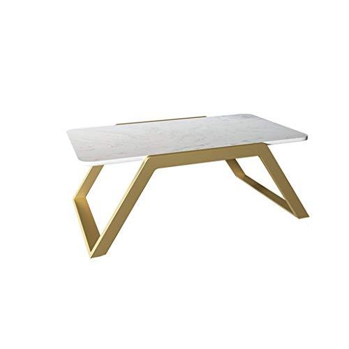 Home.table XZGang Inicio Mesa de Comedor, mármol Artificial Mesa Lateral Balcón Sala de Estar Apartamento Sala de recepción Mesa for sofá Vida Sencilla (Color : Gold, Size : 70 * 45 * 30CM)