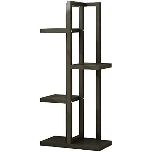 VISSJF Soporte de metal para plantas, soporte de arte de hierro, estante de 4 niveles para casa, patio, jardín, balcón, balcón
