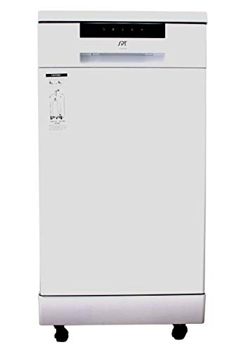 SPT SD-9263W 18″ Energy Star Portable Dishwasher– White