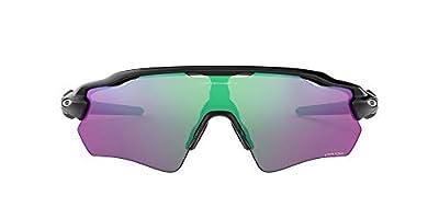 Oakley Men's OO9208 Radar EV Path Sunglasses, Polished Black/Prizm Golf, 38 mm