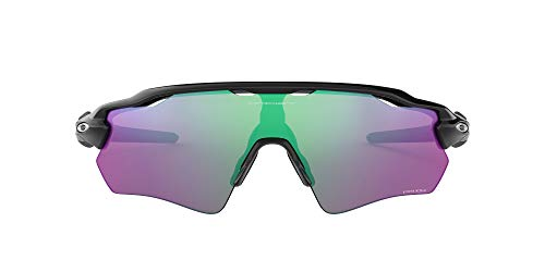 Oakley Men's OO9208 Radar EV Path Shield Sunglasses, Polished Black/Prizm Golf, 38 mm