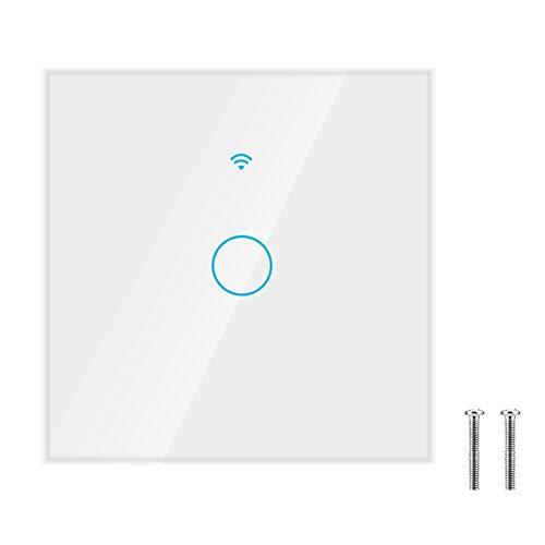 Interruptor de pantalla táctil, conveniente interruptor inteligente automático a prueba de golpes, equipo electrónico de baño para(white, European regulations)
