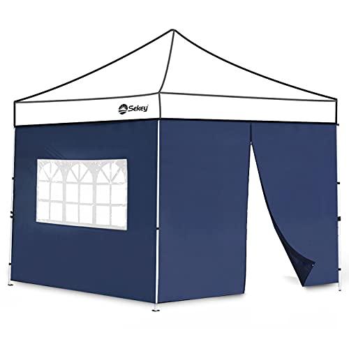 Sekey 2 Paneles Laterales con Cremallera & Ventana, Paredes Laterales para 3x3m Cenador Plegable Carpas de Jardin, Impermeables, Azul