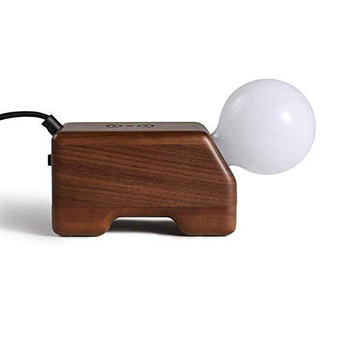 Schreibtischlampe Cute Puppy Nachtlicht Handy Wireless und USB-Buchse Lade Schlafzimmer Schöne Nachttischlampe Holz Tischlampe mit Druckschalter für Studie Büro Wohnzimmer Dekoration