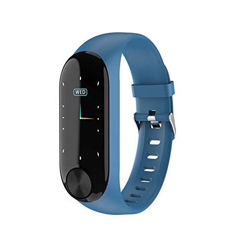 DHTOMC Reloj inteligente Ad39 Smart Watch Ip67 Impermeable Actividad Fitness Tracker Pulsera Monitor de Ritmo Cardíaco Hombre Mujer Reloj Inteligente, Fácil de usar Uso diario (Color: Azul)