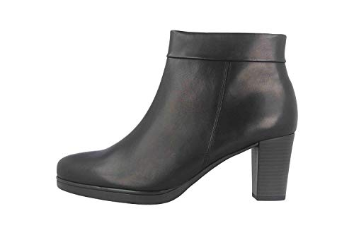 Gabor Damen Stiefelette 32.860, Frauen Kurzstiefel,Stiefel,Boot,Halbstiefel,Bootie,Reißverschluss,schwarz (Micro),40 EU / 6.5 UK