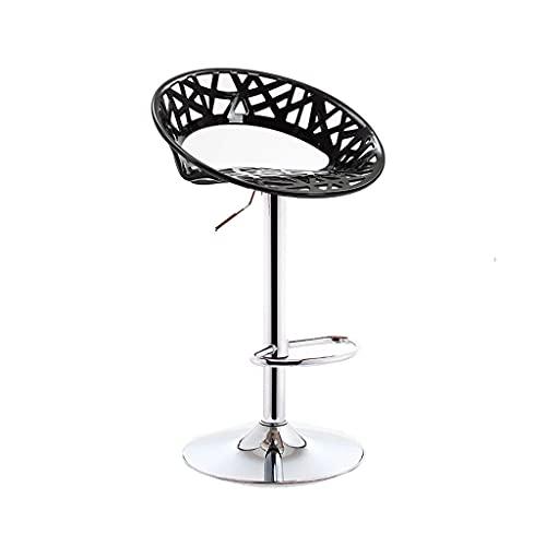 HLY Sedia con schienale , Sgabello da bar Moderno e minimalista Seggiolone con alzata Sgabello da bar per la casa Tavolo e sedie con schienale Sedia da bar Durevole,Nero,A (38,5 cm)