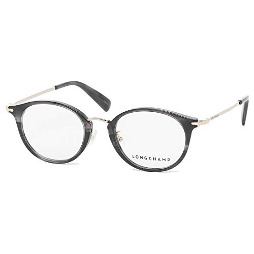 [ロンシャン 眼鏡フレーム アイウェア レディース 48サイズ グレー アジアンフィット LONGCHAMP LO2650J 036 ブランドフレーム ウェリントン] [並行輸入品]
