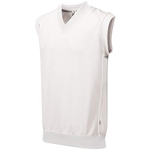 Surridge Sports Curve Sleeveless Suéter, Hombre, Blanco, S