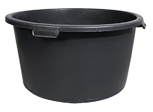 KADAX Mörtelkübel, Baueimer, stabiler Mörteleimer für Garten, Baustelle, runder Zementkübel aus Kunststoff, Betonkübel mit Griffen, Zementeimer, Mörtelkasten, Mörtelwanne (90L)