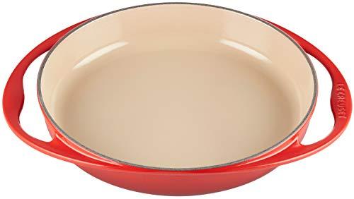 Le Creuset, Plat à Tarte Tatin en Fonte Émaillée, Ovale, Ø 25 cm, Compatible avec Toutes Sources de Chaleur (Induction Incluse), 2.13 kg, Cerise